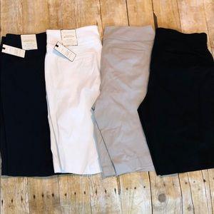 Lot of 4 Dana buchman super stretch Bermuda shorts